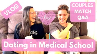 COUPLES MATCHING Q&A | How We Found Love In Med School, Our Cheesy First Kiss Story | VLOG