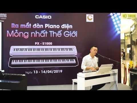 Piano Casio PX-S1000 | Màu nước mắt | Ra mắt piano mỏng nhất thế giới