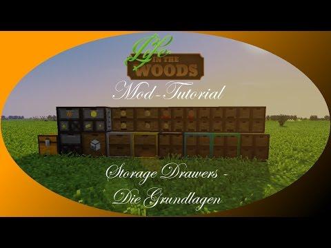 Storage Drawers Mod (1/4) - Drawer & Upgrades [Tutorial | Erklärung] Minecraft - Life in the Woods