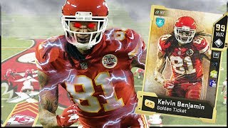 It's LITERALLY Impossible For Golden Ticket Kelvin Benjamin To Drop A Pass! (Madden 20)