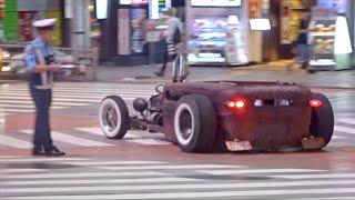 渋谷ローライダー他カスタムカー,スーパーカーがたくさん通過/Lowrider,Tunedcar,SupercarsarrivinginShibuya.