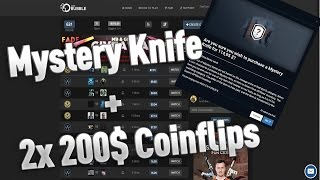 OPSKINS MYSTERY KNIFE CASE + 2x 200$ COINFLIP 🔥😱