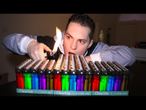 200 LIGHTERS VS FIRE EXPERIMENT! (HUGE EXPLOSION)