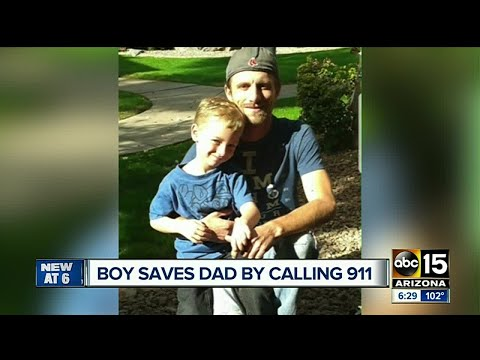 Boy saves dad by calling 911