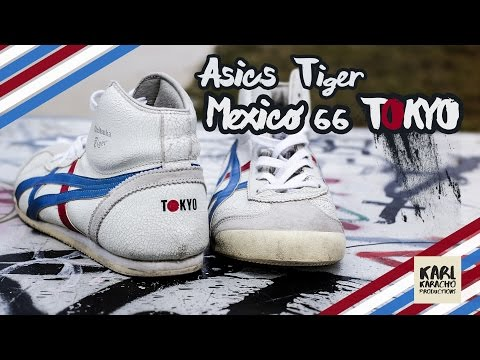 """Asics Tiger Mexico 66 """"Tokyo"""" Sneaker on feet - White / Blue / Red - Music: Valesco - Stay with me"""
