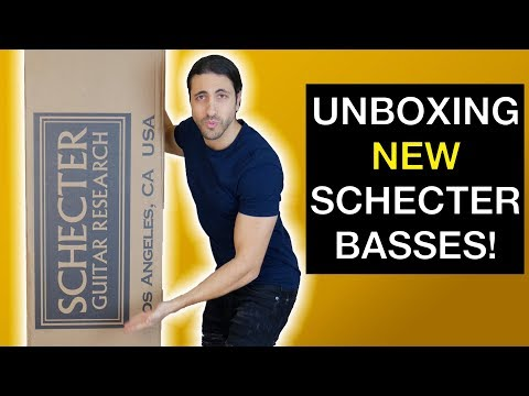UNBOXING NEW SCHECTER BASSES!