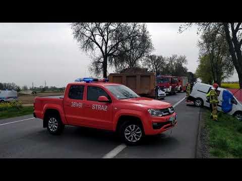 Wideo1: Śmiertelny wypadek na wyjeździe z Leszna do Poznania