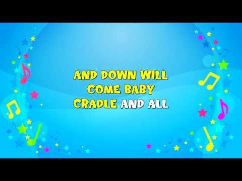 Rock a Bye Baby | Sing A Long | Nursery Rhyme | KiddieOK