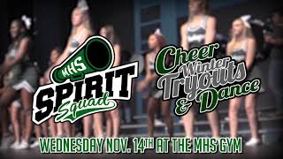 MHS Winter Cheer & Dance Tryouts