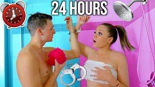 24 HOUR HANDCUFF CHALLENGE WITH MY BOYFRIEND! | Krazyrayray