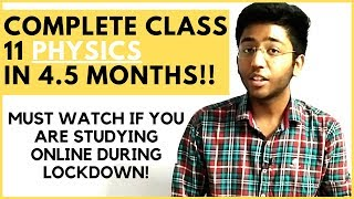 How to complete class 11th physics in 4.5 months🔥