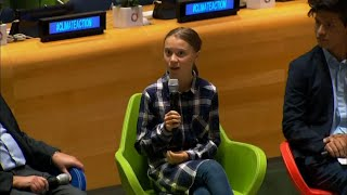 Greta Thunberg Speaks At UN Youth Climate Summit