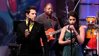 Lindsey Pavao & Chris Mann  on Jay Leno singing Clocks by Coldplay
