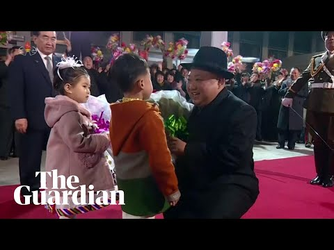 North Korea's Kim Jong-un Receives Joyous Welcome After Returning From Russia