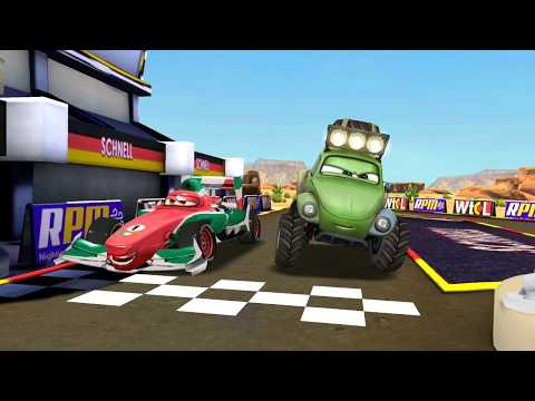Disney PIXAR CARS Francesco Bernoulli Vs Shifty & McQueen Track Racing Game