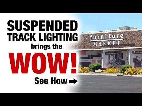 See how our Track Lighting & Suspension System brings WOW to Furniture Market's Las Vegas Showroom