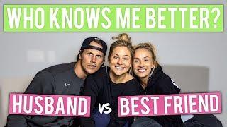 WHO KNOWS ME BETTER CHALLENGE: HUSBAND vs BEST FRIEND *NASTIA LIUKIN* | Shawn Johnson