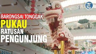 Atraksi Barongsai Disuguhkan Grand City Mall Surabaya untuk Sambut Imlek