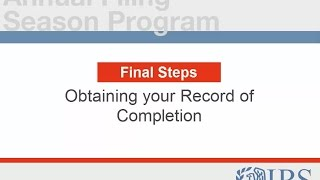 AFSP Final Steps: Consenting to the Circular 230 Requirements and Printing your Record of Completion