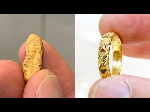 Ladies 22k Gold Ring Making New Design   How it's made   4K Video Jewelry Making