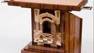 Craig Thibodeau-CT Fine Furniture - Art Deco Table With Trompe Loeil Interior