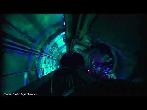 [4K] Crush's Coaster Ride (Low Light) - DIsneyland Paris: Fun Rotating Roller Coaster POV