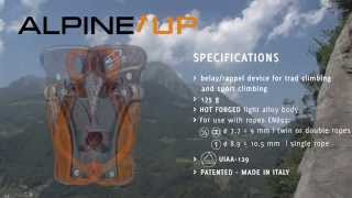 How To Use Climbing Technology's ALPINE UP Belay-rappel Device