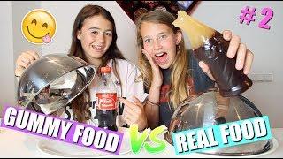 GUMMY  FOOD VS REAL FOOD CHALLENGE! | DEEL 2