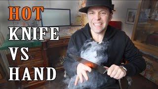 Glowing hot knife vs Hand 🔪🖐🏻 -Julien Magic