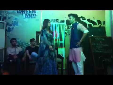 Sajal Ali and Feroze Khan dancing to the tunes of ZKHH
