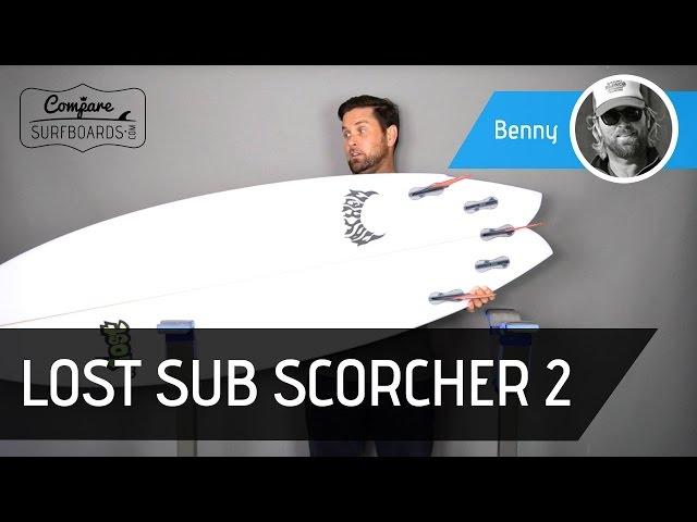 Lost Sub Scorcher 2 Surfboard Review + FCS 2 Accelerators no.150 | Compare Surfboards