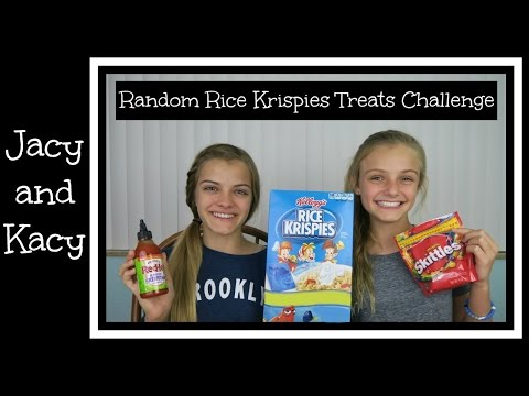 Random Rice Krispies Treats Challenge ~ Jacy and Kacy