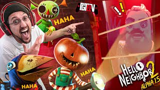 TRAPPING HELLO NEIGHBOR 2!  Greedy Little Brats Want all my Candy! (FGTeeV: The End of Alpha 1.5)