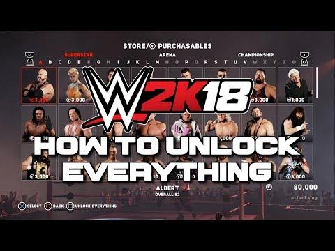 WWE 2K18 - How To Unlock Everything (Tutorial)