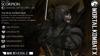 MKX MOBILE Version 1.11 - SPEC OPS SCORPION GAMEPLAY