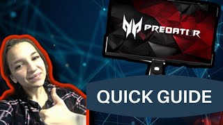 🗝️🗝️ QUICK GUIDE ACER PREDATOR XB27HU-  HOW TO CALIBRATE Your Monitor🗝️🗝️