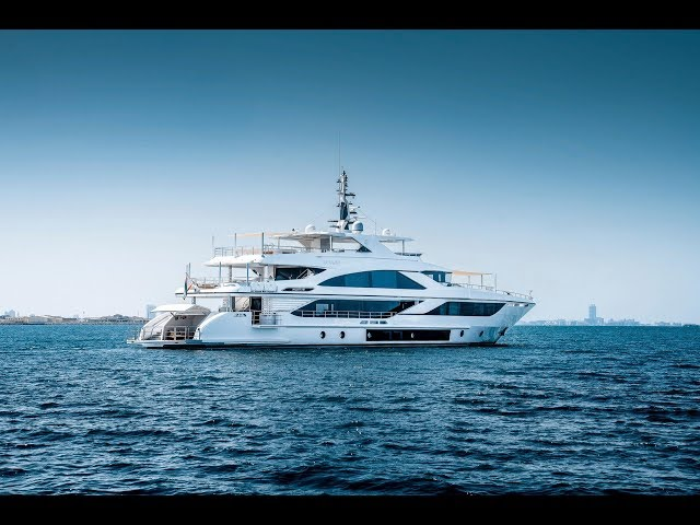 Majesty 140 M/Y Nashwan reviewed by The Boat Show