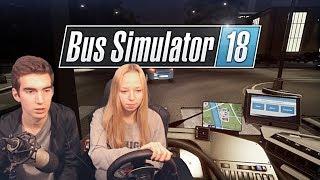 ДЕВУШКА ЗА РУЛЕМ АВТОБУСА - Bus Simulator 18 [#14]