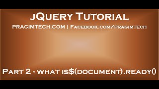 What is $document ready function in jquery