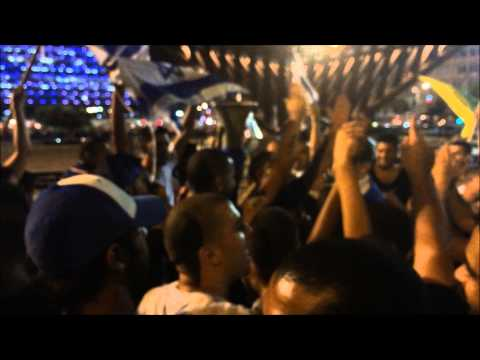 "Israelis in Tel Aviv 26.7.2014: ""There's no school tomorrow, there's no children left in Gaza! Oleh!"""