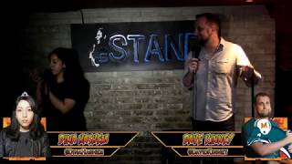 Shy deadpan girl viciously defeats a big loud guy in a NYC comedy roast battle
