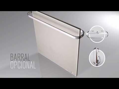 Panel calefactor de bajo consumo Calorflat (original: de material termo cerámico compacto)