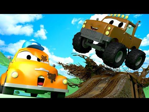 Canavar kamyon Marley  - Tom un Oto Yıkaması Araba şehrinde ???? Çocuklar için çizgi filmler