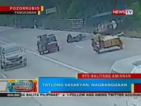 [GMA]  BP: Tatlong sasakyan, nagbanggaan