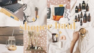 MOST AFFORDABLE SHOPEE HAUL | Part 3 ✨ (Home Decor, Accessories, Laptop Stand)