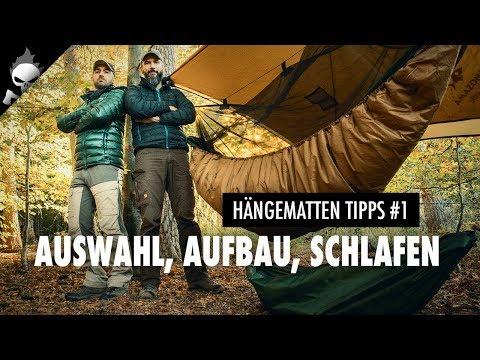 HÄNGEMATTEN TIPPS für AUSWAHL, AUFBAU & SCHLAFEN 🌙 Erste Nacht in der Hängematte Outdoor