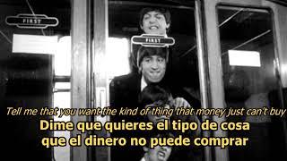 Can't buy me love - The Beatles (LYRICS/LETRA) [Original]