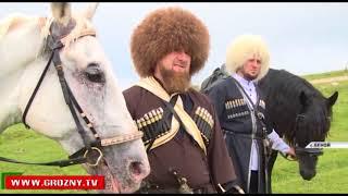 Конная прогулка Рамзана Кадырова по высокогорье