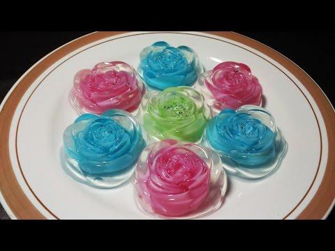 Video Resep Membuat Pudding Kaca Mawar Warna Warni