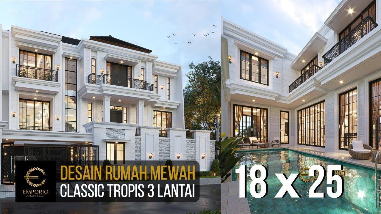 Video 3D Desain Rumah Classic 3 Lantai Bapak Daniel Danuta Kurniawan